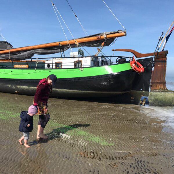 Overwinning droogvallen op zandbank@ Gouden Vloot Zeilreizen