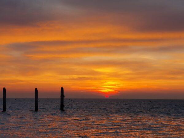 Zonsondergang op Wad@Gouden Vloot zeilreizen
